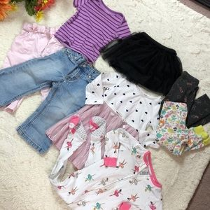 BABY GIRL bundle lot 8 pc 12-18 months footed pj